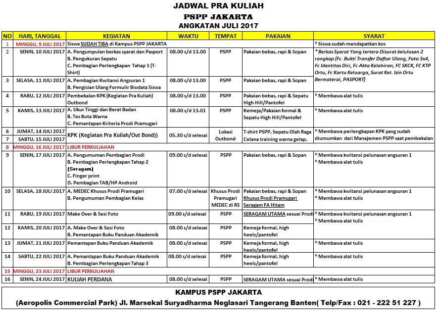 PSPP JAKARTA - PRA KULIAH JULI 17