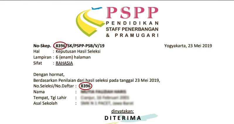 nomor skep siswa PSPP